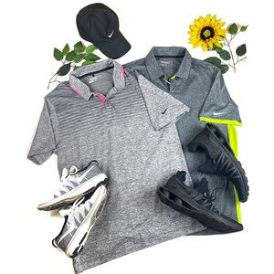 Two Nike Golf Tour Performance Polo Shirt Lot Sale